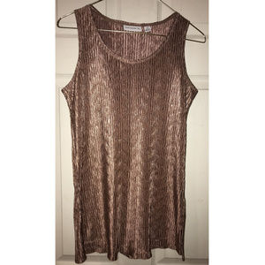 Copper Shimmer Tank Top by Susan Graver